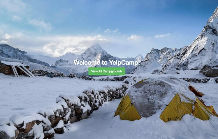 YelpCamp Landing Page